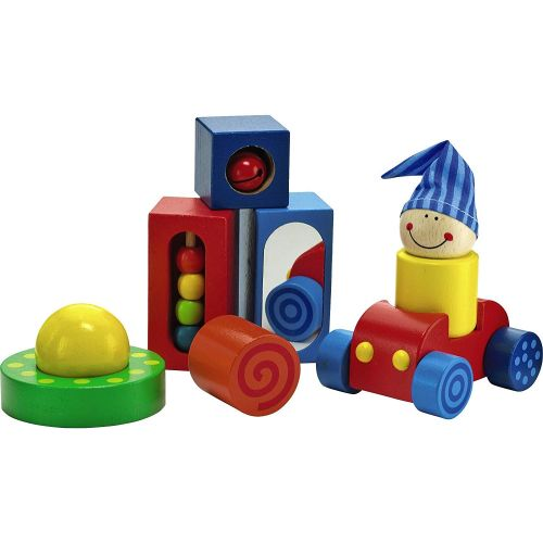 HABA Play Shapes 8 Piece First Building Block Set for Ages 12 Months and Up
